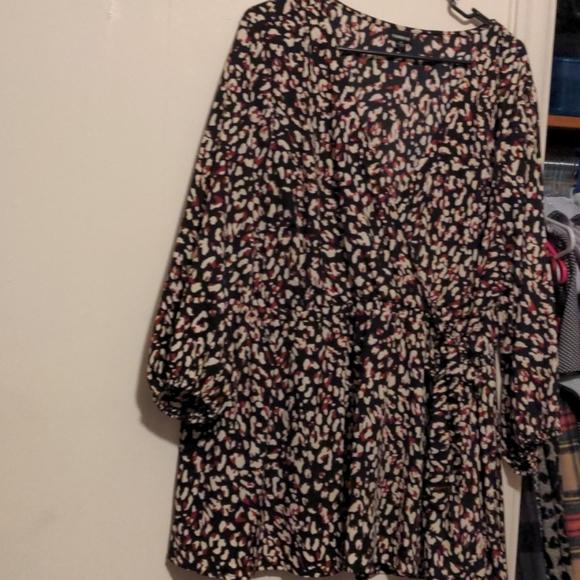 TORRID leopard print dress shirt  So flattering!!